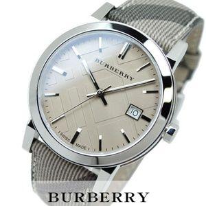 New Burberry Embossed Leather Unisex Bu9029 Watch